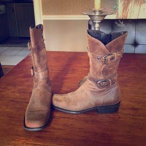 Brown mid calf boots Donald Pliner 7.5